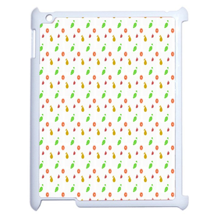 Fruit Pattern Vector Background Apple iPad 2 Case (White)