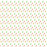 Fruit Pattern Vector Background Happy Birthday 3D Greeting Card (8x4) Inside
