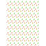 Fruit Pattern Vector Background Heart Bottom 3D Greeting Card (7x5) Inside