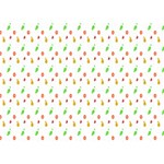 Fruit Pattern Vector Background Heart Bottom 3D Greeting Card (7x5) Back