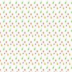 Fruit Pattern Vector Background Twin Heart Bottom 3D Greeting Card (8x4) Inside