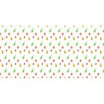 Fruit Pattern Vector Background Twin Heart Bottom 3D Greeting Card (8x4) Back