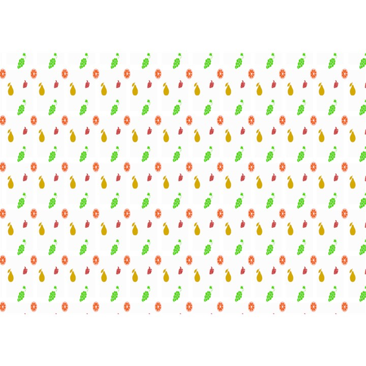 Fruit Pattern Vector Background Birthday Cake 3D Greeting Card (7x5)