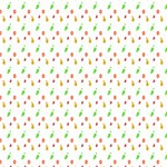 Fruit Pattern Vector Background Happy New Year 3D Greeting Card (8x4) Inside