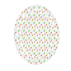 Fruit Pattern Vector Background Ornament (Oval Filigree)