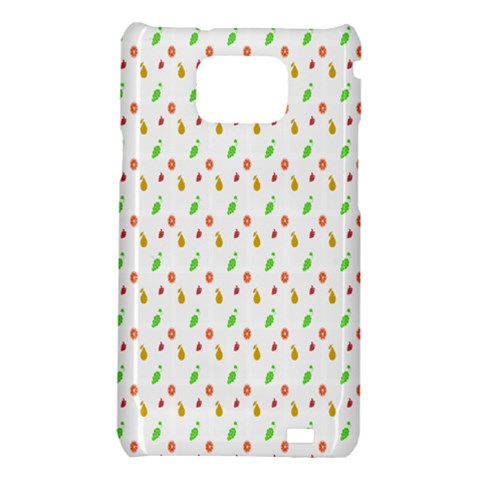 Fruit Pattern Vector Background Samsung Galaxy S2 i9100 Hardshell Case