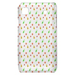 Fruit Pattern Vector Background Samsung Galaxy S i9000 Hardshell Case