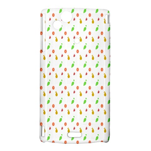 Fruit Pattern Vector Background Sony Xperia Arc