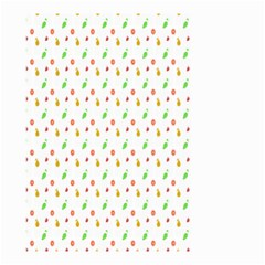 Fruit Pattern Vector Background Small Garden Flag (Two Sides)