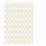 Fruit Pattern Vector Background Small Garden Flag (Two Sides) Back