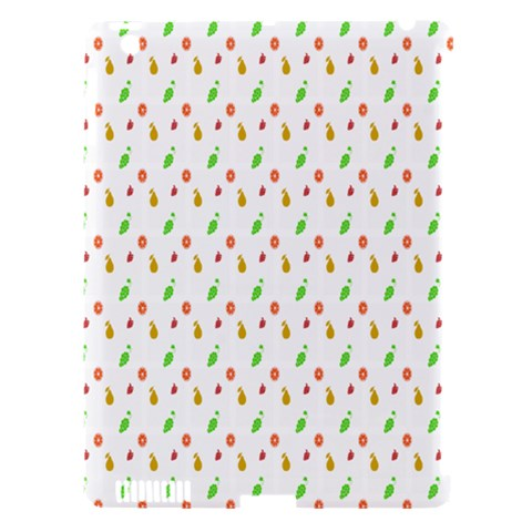 Fruit Pattern Vector Background Apple iPad 3/4 Hardshell Case (Compatible with Smart Cover)