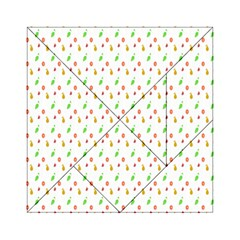 Fruit Pattern Vector Background Acrylic Tangram Puzzle (6  x 6 )
