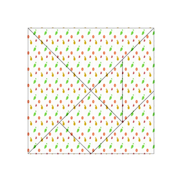 Fruit Pattern Vector Background Acrylic Tangram Puzzle (4  x 4 )
