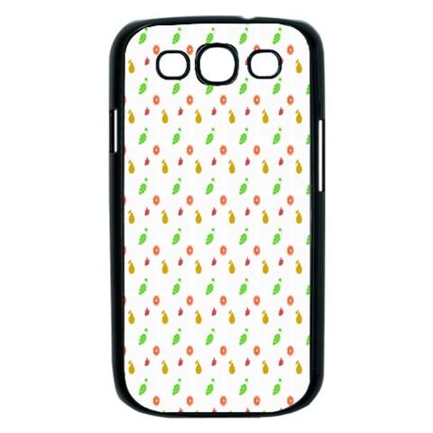 Fruit Pattern Vector Background Samsung Galaxy S III Case (Black)