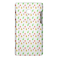 Fruit Pattern Vector Background Sony Xperia ion