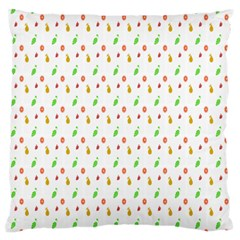 Fruit Pattern Vector Background Large Cushion Case (Two Sides)