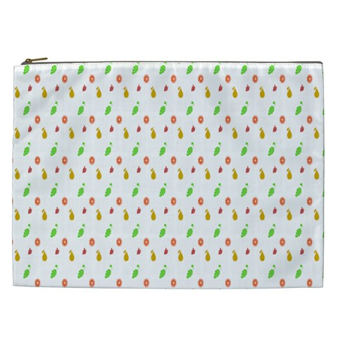 Fruit Pattern Vector Background Cosmetic Bag (XXL)