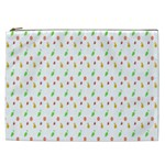 Fruit Pattern Vector Background Cosmetic Bag (XXL)  Front