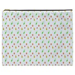 Fruit Pattern Vector Background Cosmetic Bag (XXXL)  Front