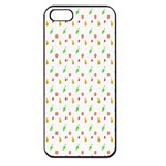 Fruit Pattern Vector Background Apple iPhone 5 Seamless Case (Black) Front