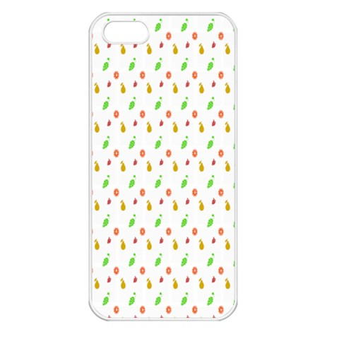 Fruit Pattern Vector Background Apple iPhone 5 Seamless Case (White)