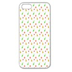 Fruit Pattern Vector Background Apple Seamless iPhone 5 Case (Clear) Front