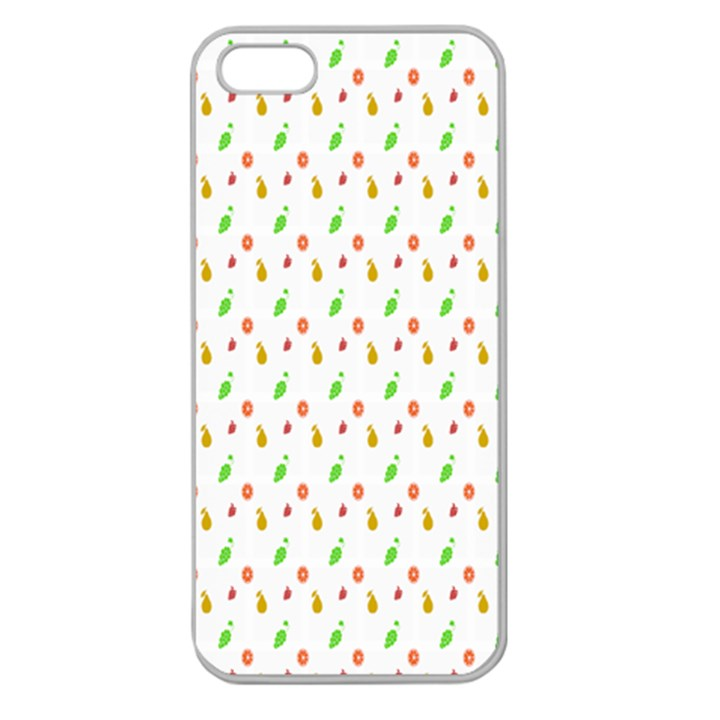 Fruit Pattern Vector Background Apple Seamless iPhone 5 Case (Clear)
