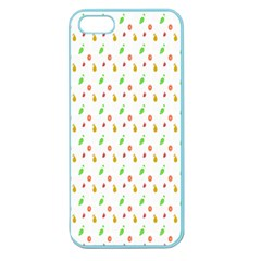Fruit Pattern Vector Background Apple Seamless iPhone 5 Case (Color)