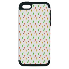 Fruit Pattern Vector Background Apple iPhone 5 Hardshell Case (PC+Silicone)