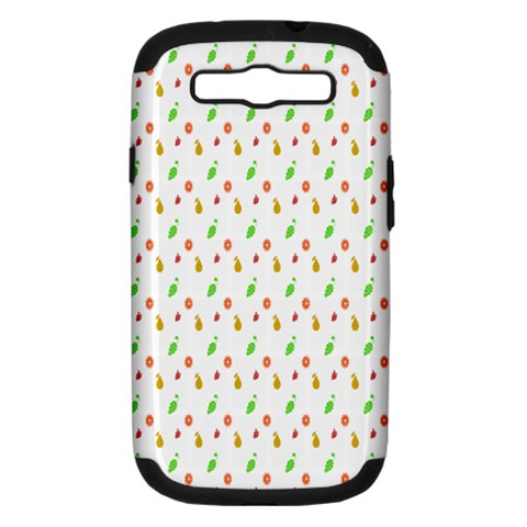 Fruit Pattern Vector Background Samsung Galaxy S III Hardshell Case (PC+Silicone)