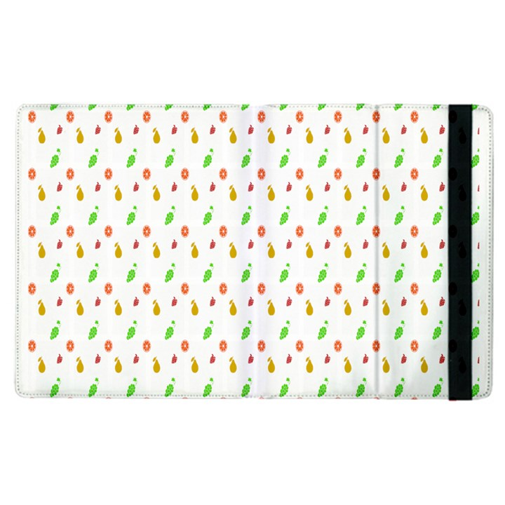 Fruit Pattern Vector Background Apple iPad 2 Flip Case