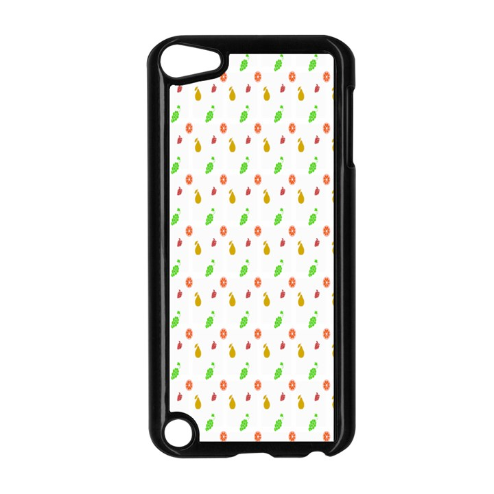 Fruit Pattern Vector Background Apple iPod Touch 5 Case (Black)