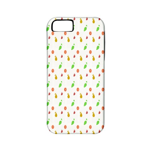 Fruit Pattern Vector Background Apple iPhone 5 Classic Hardshell Case (PC+Silicone)