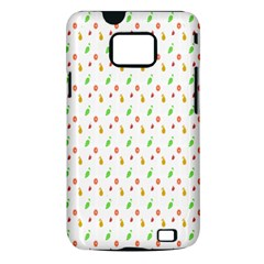 Fruit Pattern Vector Background Samsung Galaxy S II i9100 Hardshell Case (PC+Silicone)