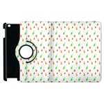 Fruit Pattern Vector Background Apple iPad 2 Flip 360 Case Front