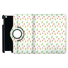 Fruit Pattern Vector Background Apple iPad 3/4 Flip 360 Case