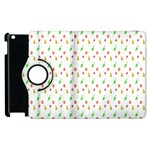 Fruit Pattern Vector Background Apple iPad 3/4 Flip 360 Case Front