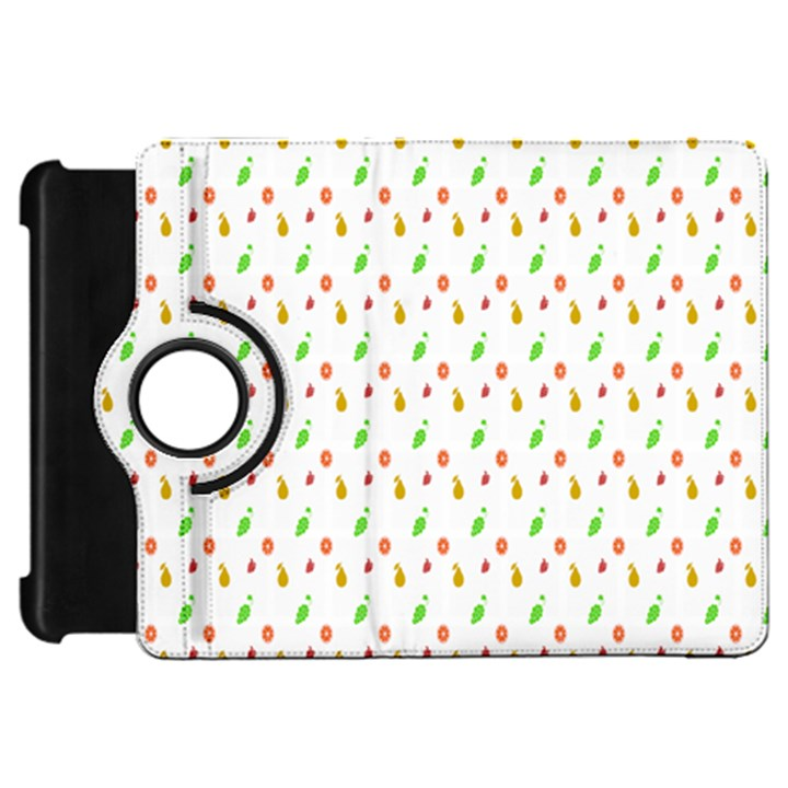 Fruit Pattern Vector Background Kindle Fire HD Flip 360 Case