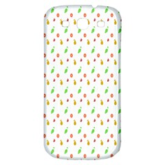 Fruit Pattern Vector Background Samsung Galaxy S3 S III Classic Hardshell Back Case