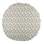 Fruit Pattern Vector Background Large 18  Premium Round Cushions Front