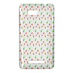 Fruit Pattern Vector Background HTC One SU T528W Hardshell Case