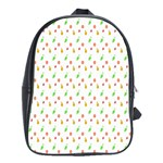 Fruit Pattern Vector Background School Bags (XL)  Front