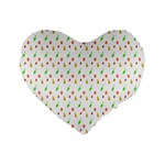 Fruit Pattern Vector Background Standard 16  Premium Heart Shape Cushions Front