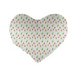 Fruit Pattern Vector Background Standard 16  Premium Heart Shape Cushions Back