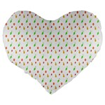 Fruit Pattern Vector Background Large 19  Premium Heart Shape Cushions Back