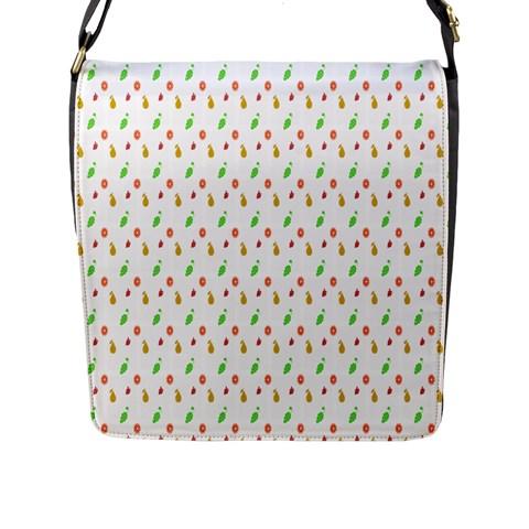 Fruit Pattern Vector Background Flap Messenger Bag (L)