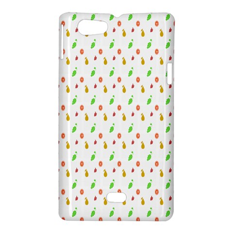 Fruit Pattern Vector Background Sony Xperia Miro