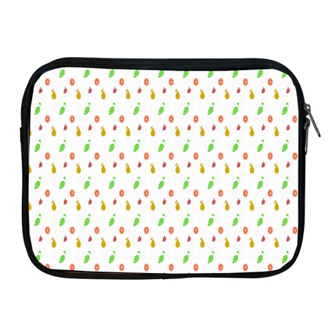 Fruit Pattern Vector Background Apple iPad 2/3/4 Zipper Cases