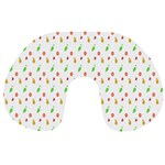 Fruit Pattern Vector Background Travel Neck Pillows Front