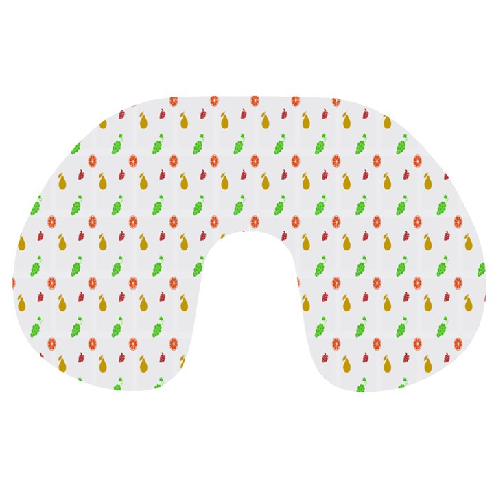 Fruit Pattern Vector Background Travel Neck Pillows